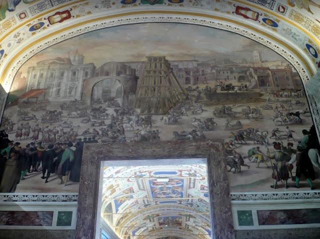 affresco nelle Gallerie dei Musei Vaticani