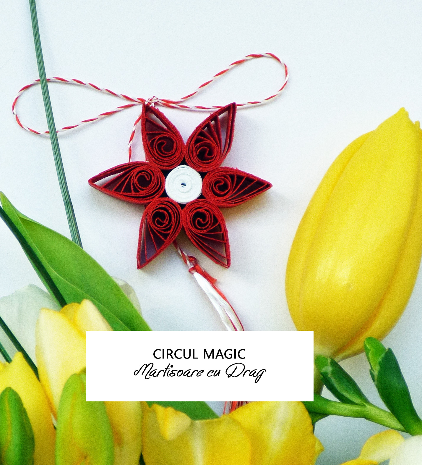 Martisoare Quilling 2017 Flori de Stea Circul Magic