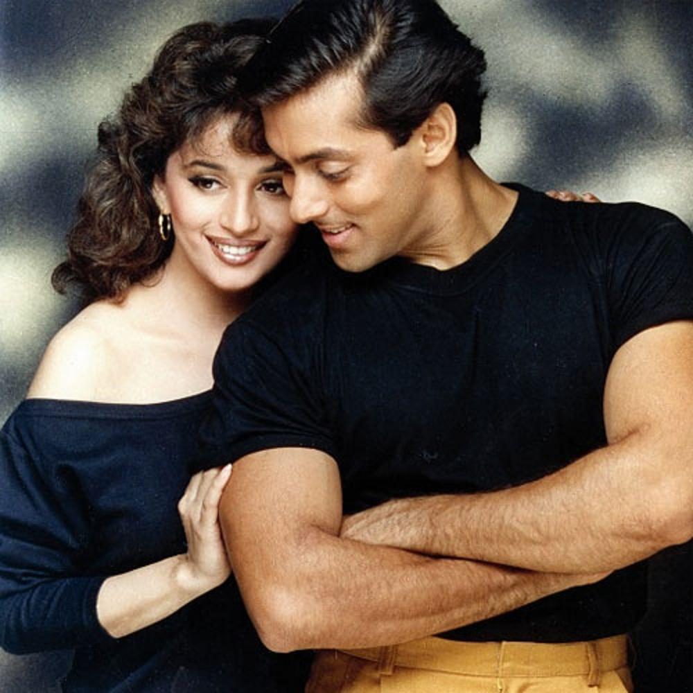 Beautiful Copule Madhuri Dixit And Salman Khan Wallpaper -2955