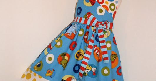 GypsySpoonful Dr. Seuss Cat in the Hat Wrap Dress by That's So Addie. Custom sizes 2T-8