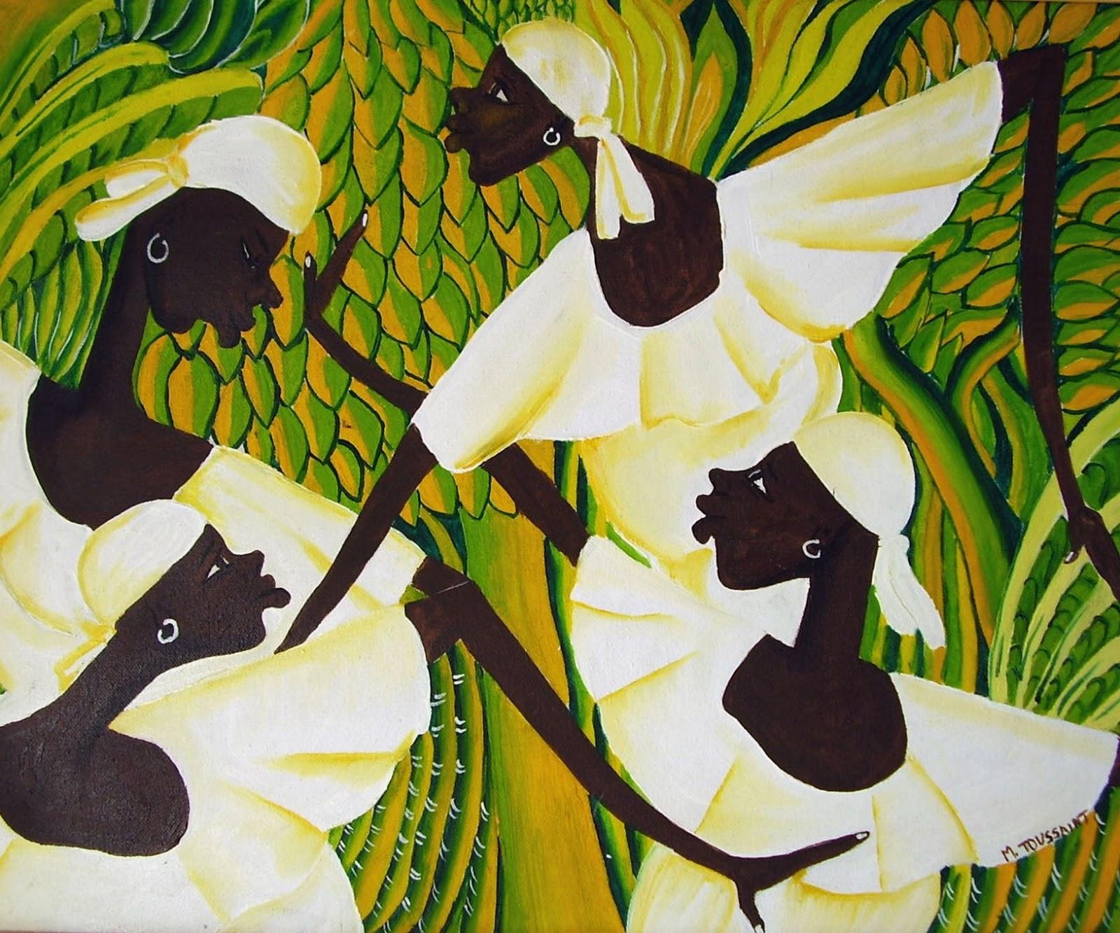 Pintura Moderna y Fotografía Artística : PINTURAS DE NEGRAS
