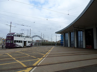 Tram at Starr Gate in Blackpool. Photo by Philip Walsh, 23rd September 2017