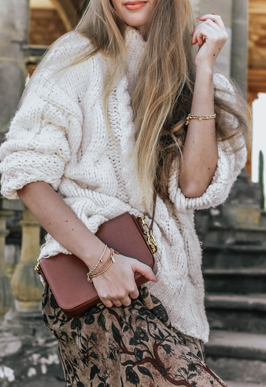 Zara Oversized Cream Chunky Knit Jumper