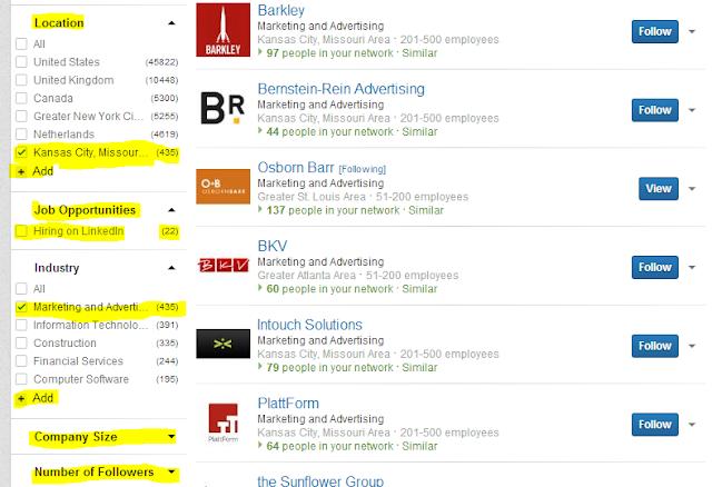 follow companies on LinkedIn, how to follow companies on LinkedIn, LinkedIn follow companies