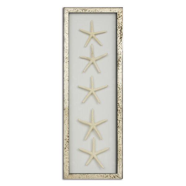Acid Washed Frame Starfish Wall Decor
