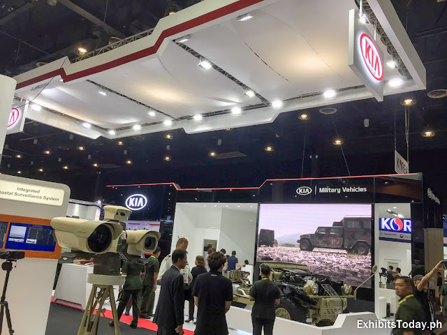 Kia Military Vehicles Trade Show Display