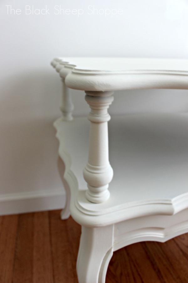 Painted finish in Old White prior to sanding.