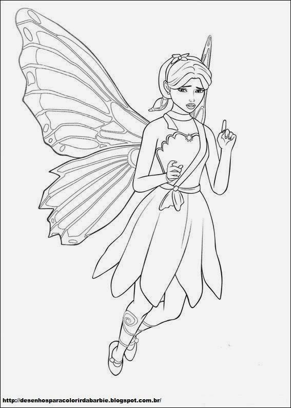Desenhos Para Colorir Da Barbie Fada Borboleta Desenho 13