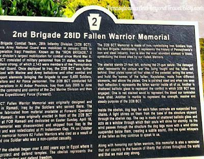 Fallen Warrior Memorial at the Pennsylvania National Guard Military Museum at Fort Indiantown Gap
