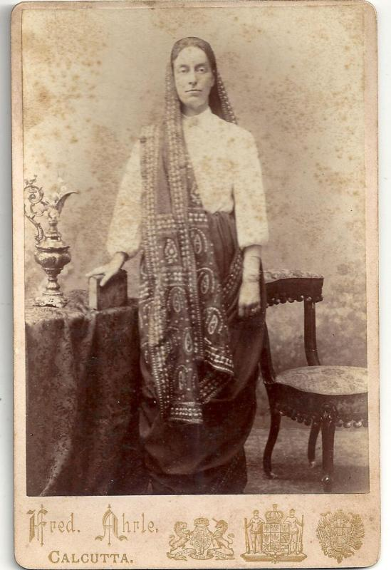 A Parsee Woman from Calcutta (Kolkata) - 1895