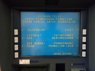 Tampilan Menu Pembayaran di ATM Link Himbara