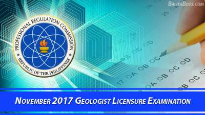 Geologist November 2017 Board Exam