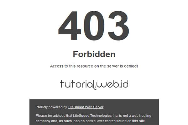 Cara Mengatasi 403 Forbidden
