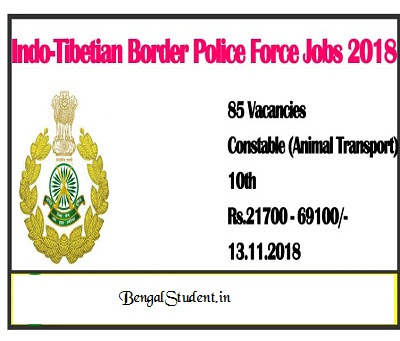 85 Constable ITBP Recruitment 2018 - Border Police Force