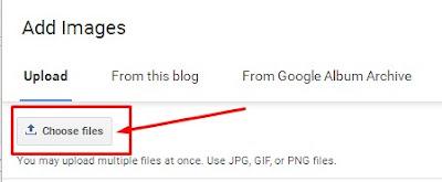 blogger upload choose files