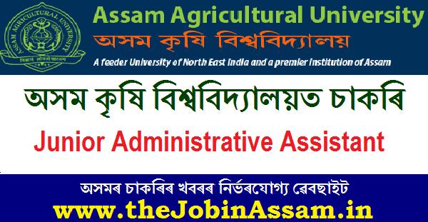 Assam Agriculture University Recruitment 2020