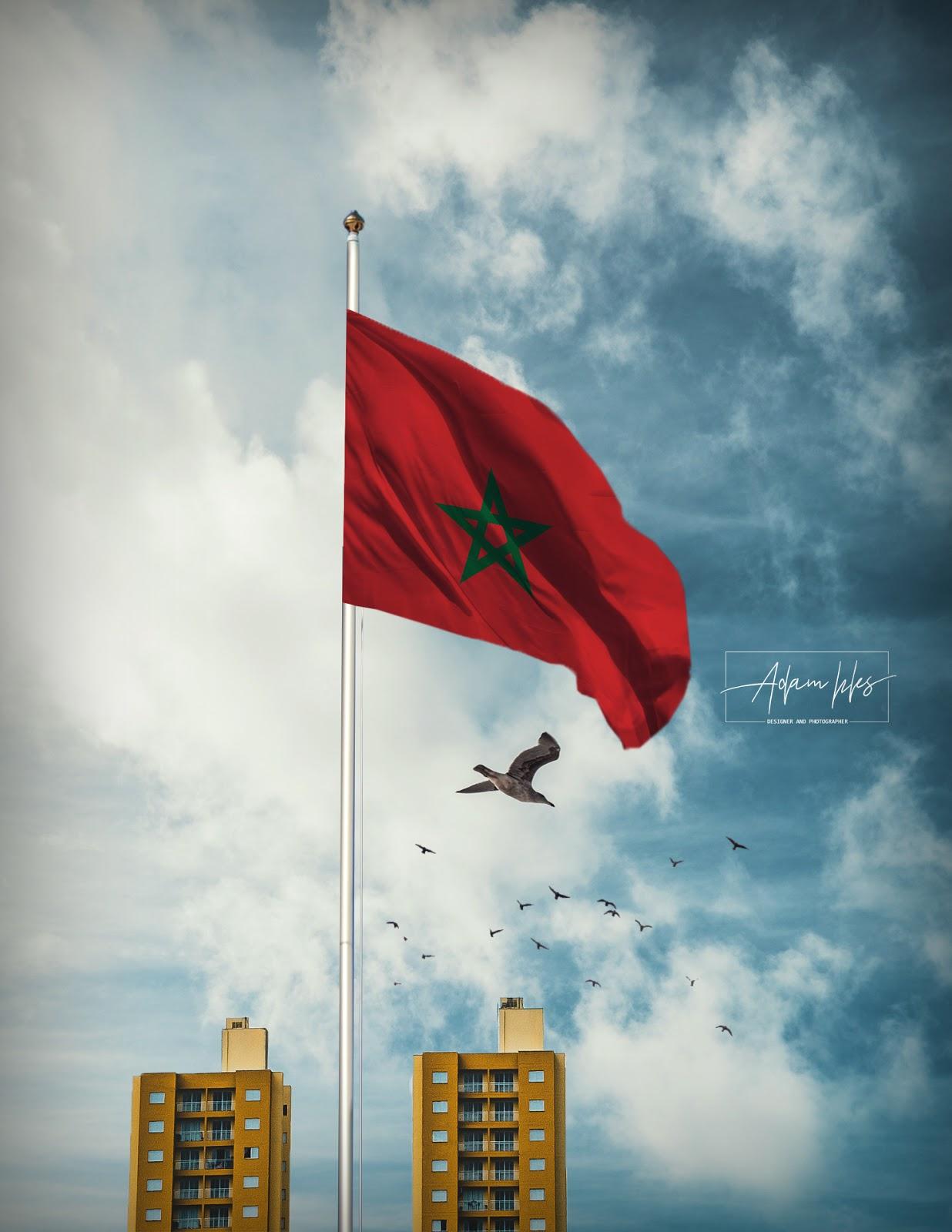 خلفية علم المغرب