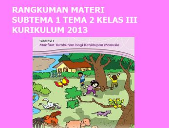 Rangkuman Materi Pembelajaran Tematik Kelas 3 Tema 2 Subtema 1 Manfaat Tumbuhan Bagi Kehidupan Manusia Riyanpedia