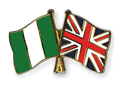 Nigeria-UK flags