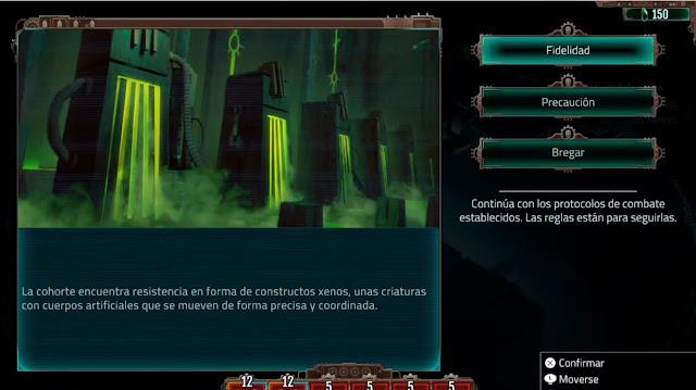 Warhammer 40000 Mechanicus - Toma de decisiones
