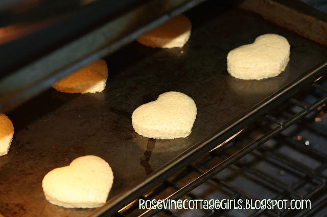 Heart Shaped Cookies, Valentine's Day Cookies, Chocolate Dipped Heart Cookies, by Rosevine Cottage Girls