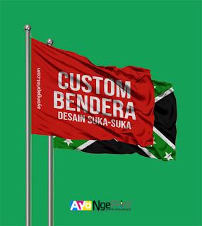 cetak sablon custom bendera satuan di Sawah Besar, Jakarta Pusat