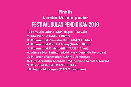 Pengumuman Lolos Tahap I Desain Poster FBP 2019