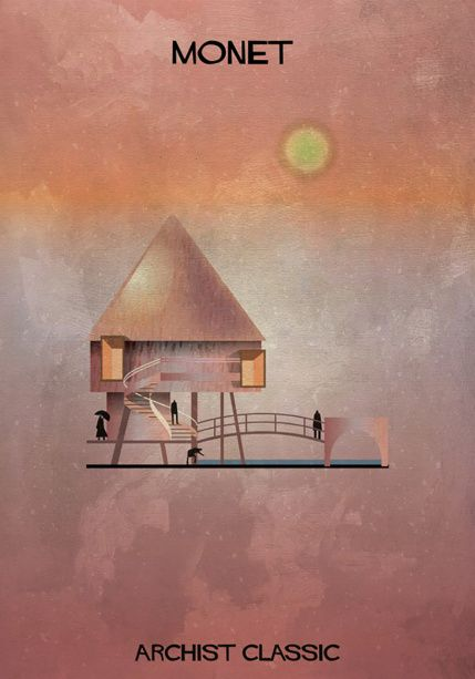 もし有名画家が建築物を作ったら?ゴッホ、ピカソ、ダリの建築? モネ