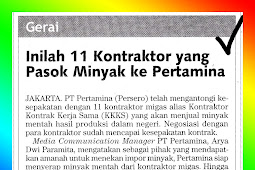 These are 11 Contractors who Supply Oil to Pertamina