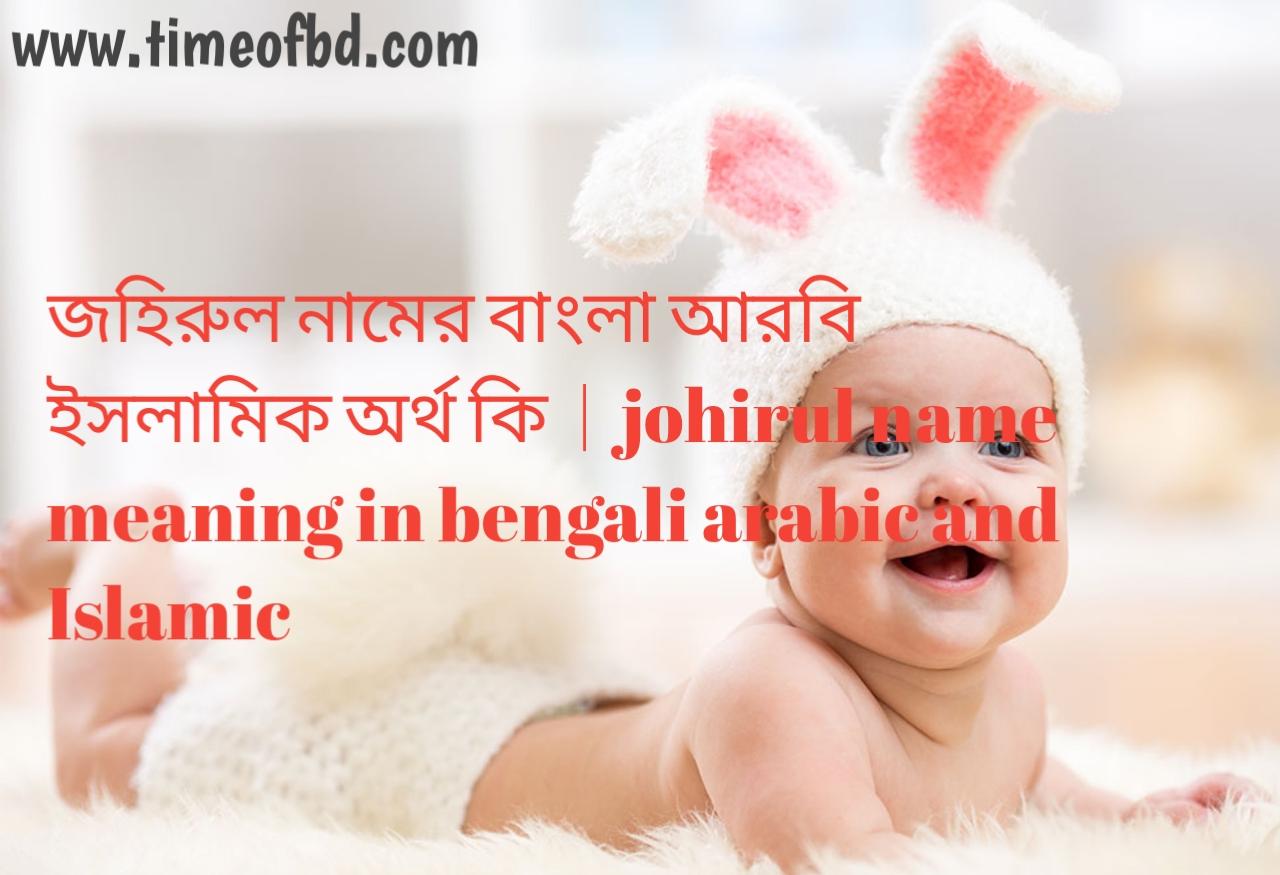 জহিরুল নামের অর্থ কী, জহিরুল নামের বাংলা অর্থ কি, জহিরুল নামের ইসলামিক অর্থ কি, johirul name meaning in bengali