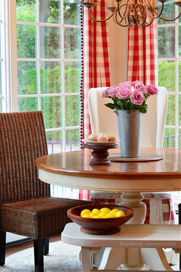 Wicker Chair Cottage Kitchen Nook