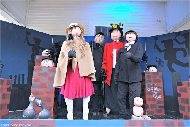 Mary Poppins en el Return of the Pumpkin People de Jackson en New Hampshire