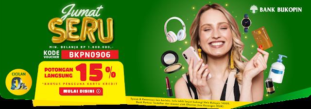 #Alfacart - #Promo Potongan Langsung 15% Pakai Kartu Kredit Bukopin (06 Sept 2019)