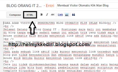 Membuat Visitor Otomatis Klik Iklan Blog