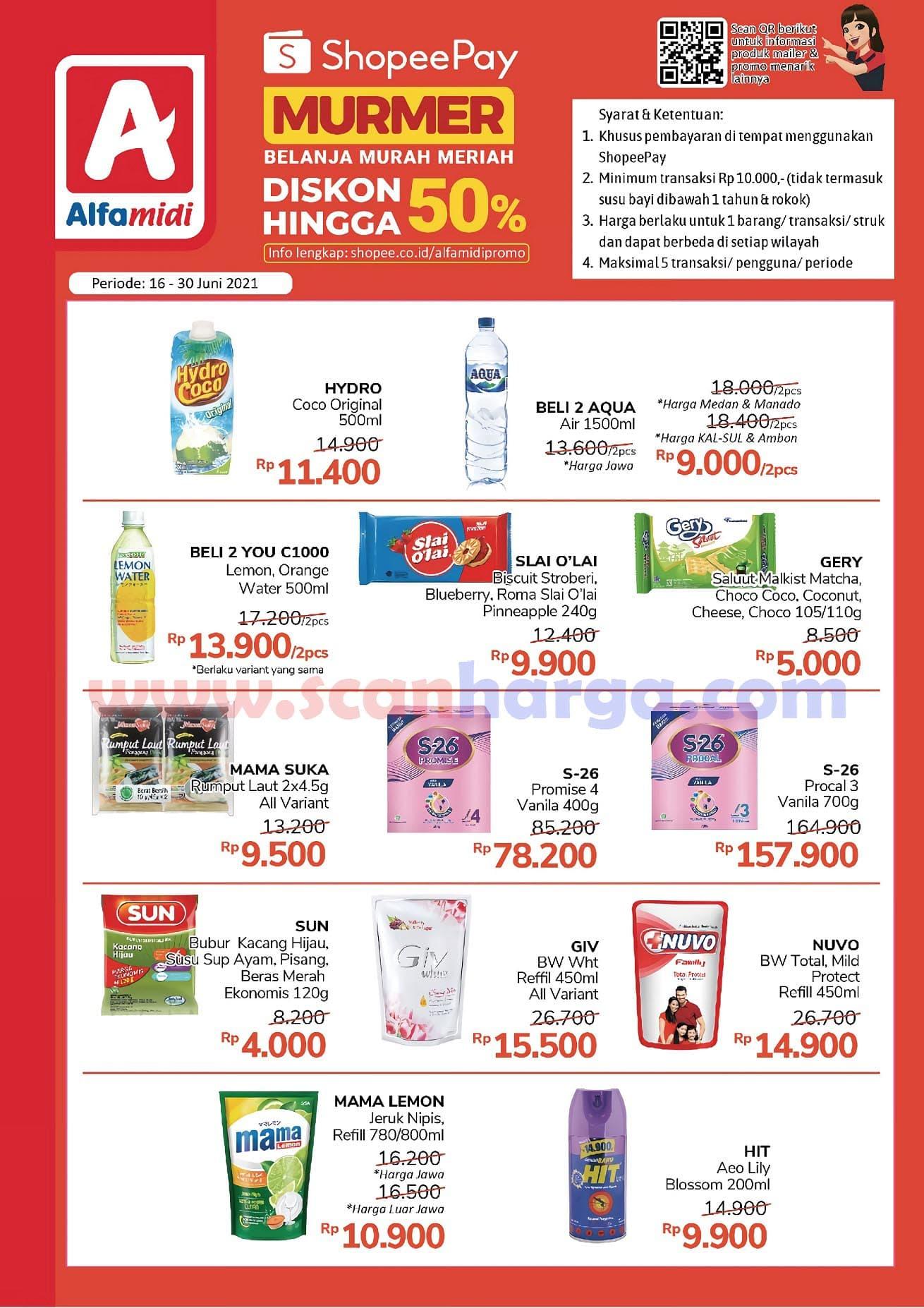 Promo Shopeepay Alfamidi 16 - 30 Juni 2021