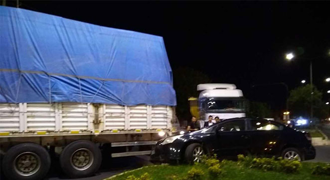 Diyarbakır Alipınar'da maddi hasarlı trafik kazası