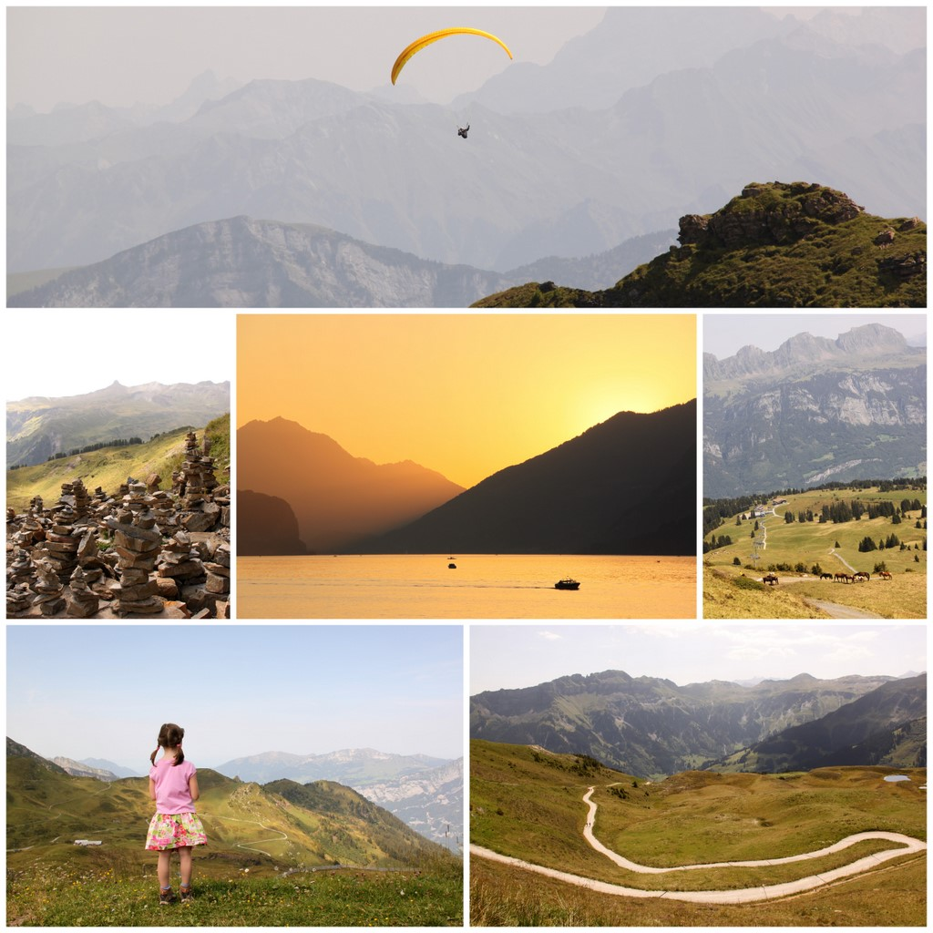Swiss mountain collage