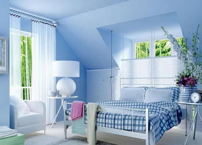 Cornflower blue wall color for bedroom