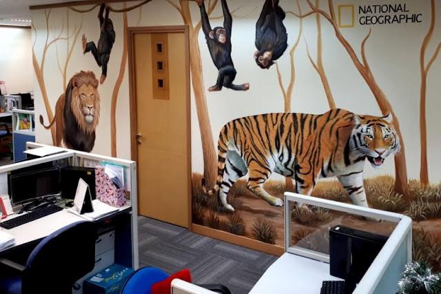 Mural di kantor Fox National Geographic