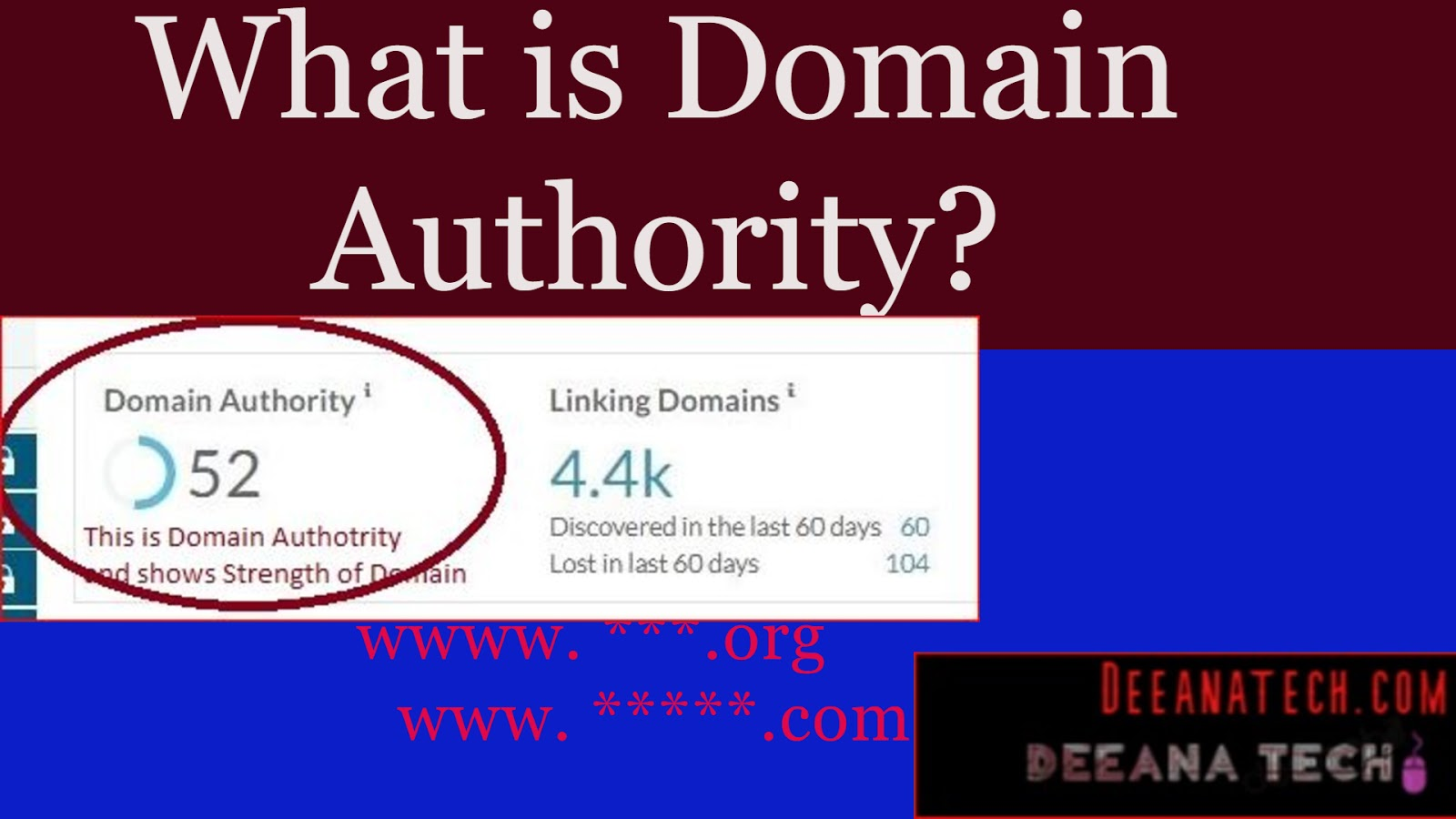 What is Domain Authority? | MOZ Domain Rank Checker | Domain Checker | check Domain Details  |   deeanatech.com