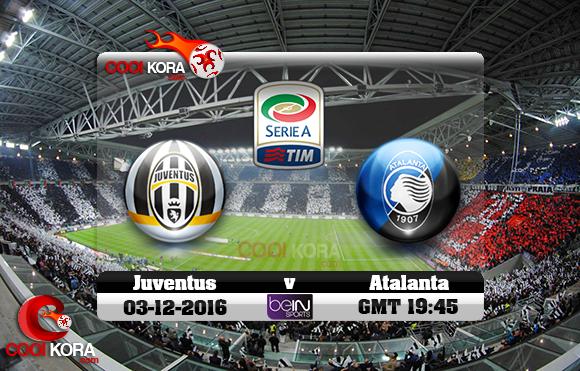 مشاهدة مباراة يوفنتوس وأتلانتا اليوم 3-12-2016 في الدوري الإيطالي