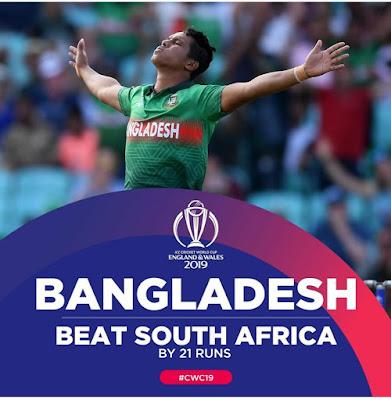 Bangladesh won by 21 runs