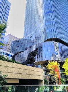 Statue Of Godzilla In Tokyo