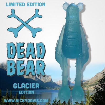 Dead Bear Glacier Edition Resin Figure by Nicky Davis
