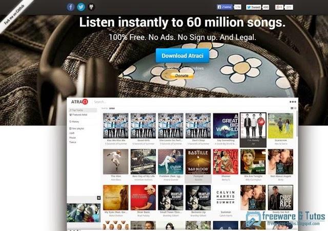 Atraci : un logiciel pratique pour écouter en streaming plus de 60 millions de chansons