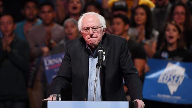 Sanders no reconoce a Guaidó como presidente interino de Venezuela