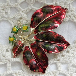 Mountain ash enamel brooch by Exquisite