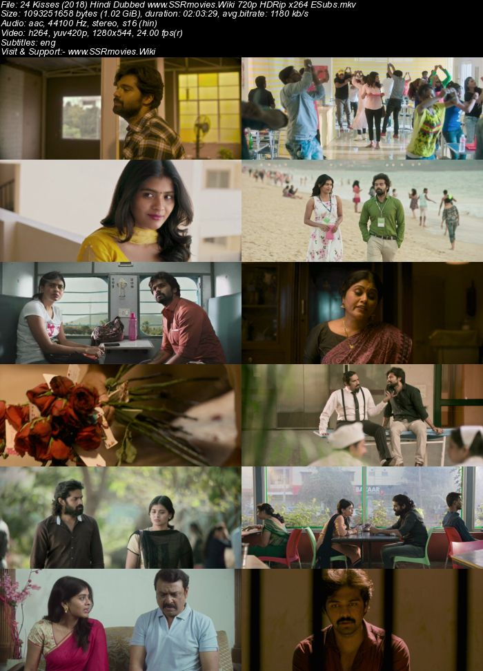 24 Kisses (2018) Hindi Dubbed 720p HDRip x264 1GB ESubs Movie Download