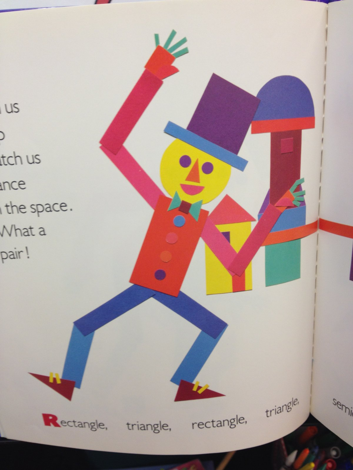 Kindergarten Kids Shape Man