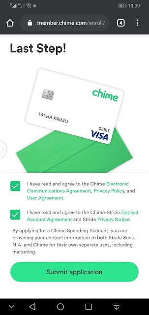 احصل على بطاقة فيزا كارت مع حساب بنكي اوروبي مجانا Chime - Mobile Banking